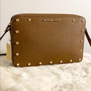 🆕MICHAEL KORS Leather Studded Crossbody Bag